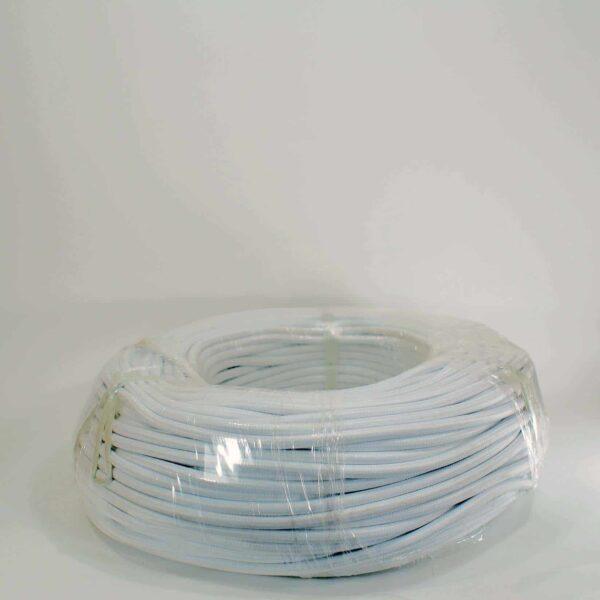 DIY Braid wire สายไฟหุ้มผ้า-ขาว