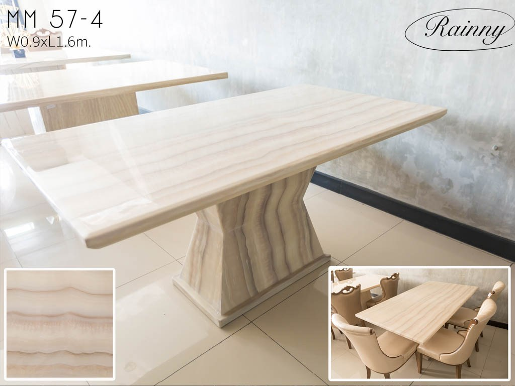 Mm 71 ชุดโต๊ะอาหารหิน